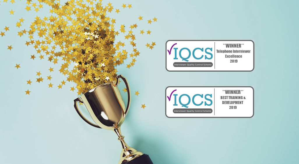 Kudos Research are <span>double winners</span> at the 2019 IQCS Excellence Awards!